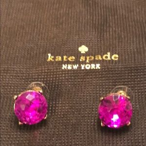 Kate spade gold and pink gum drop earrings
